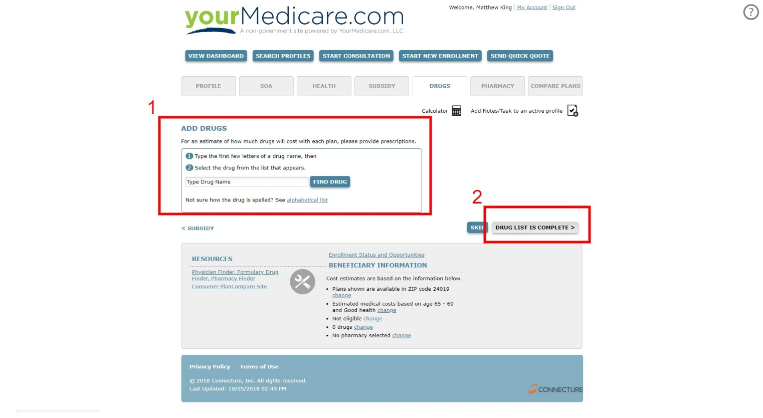 Add Your Client's Drugs When Doing A Medicare Advantage and PDP Sale Online