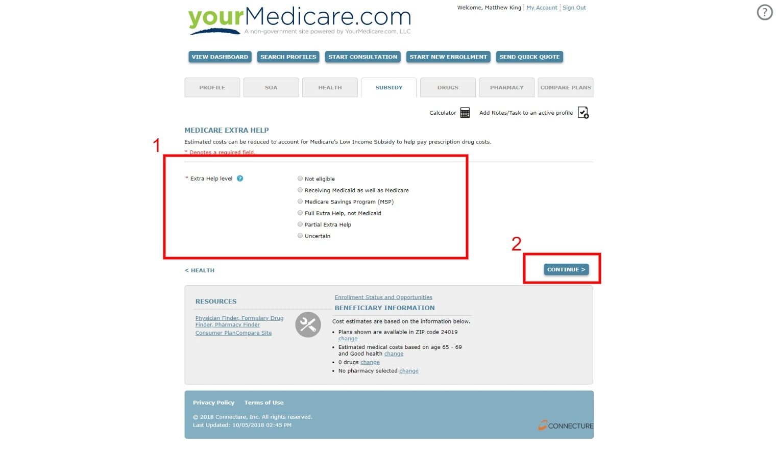 Medicare Extra Help Check Online Enrollment Tool