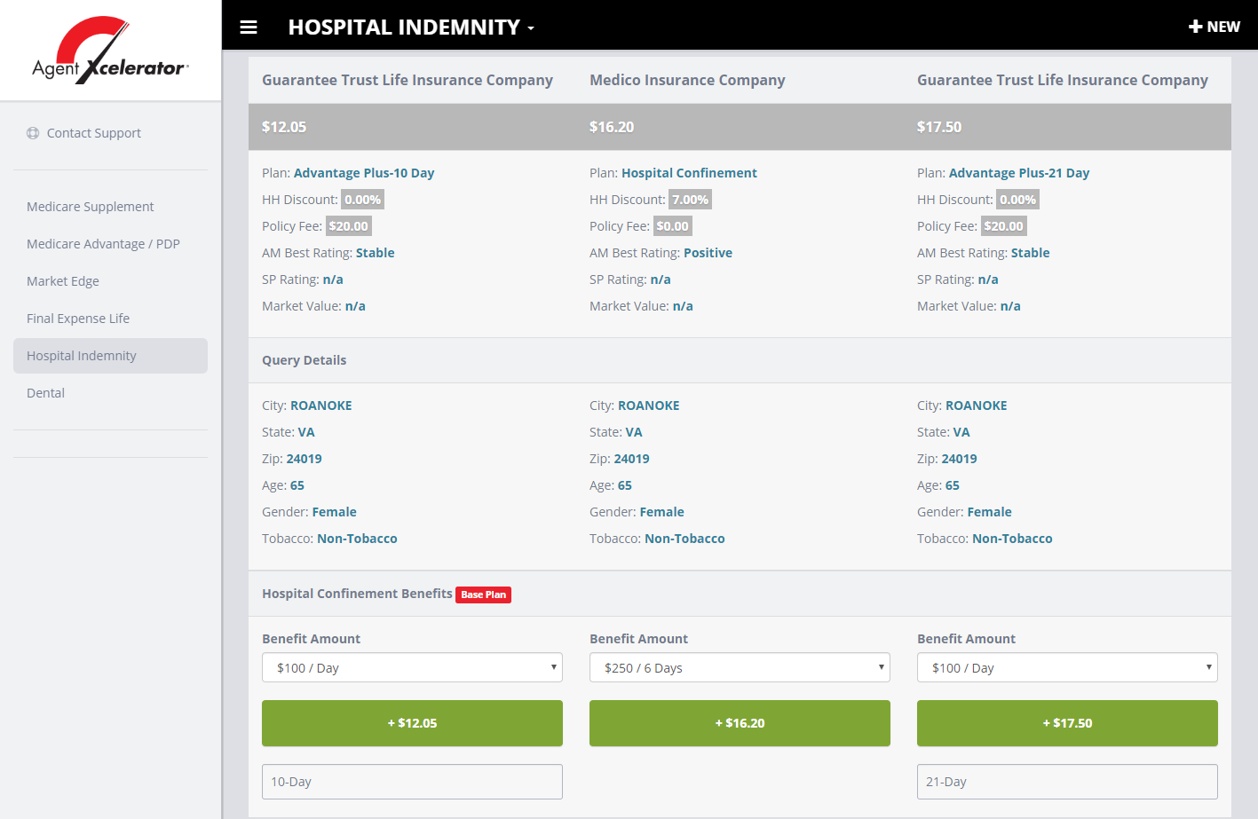 Hospital Indemnity Quoting Tool and Compare