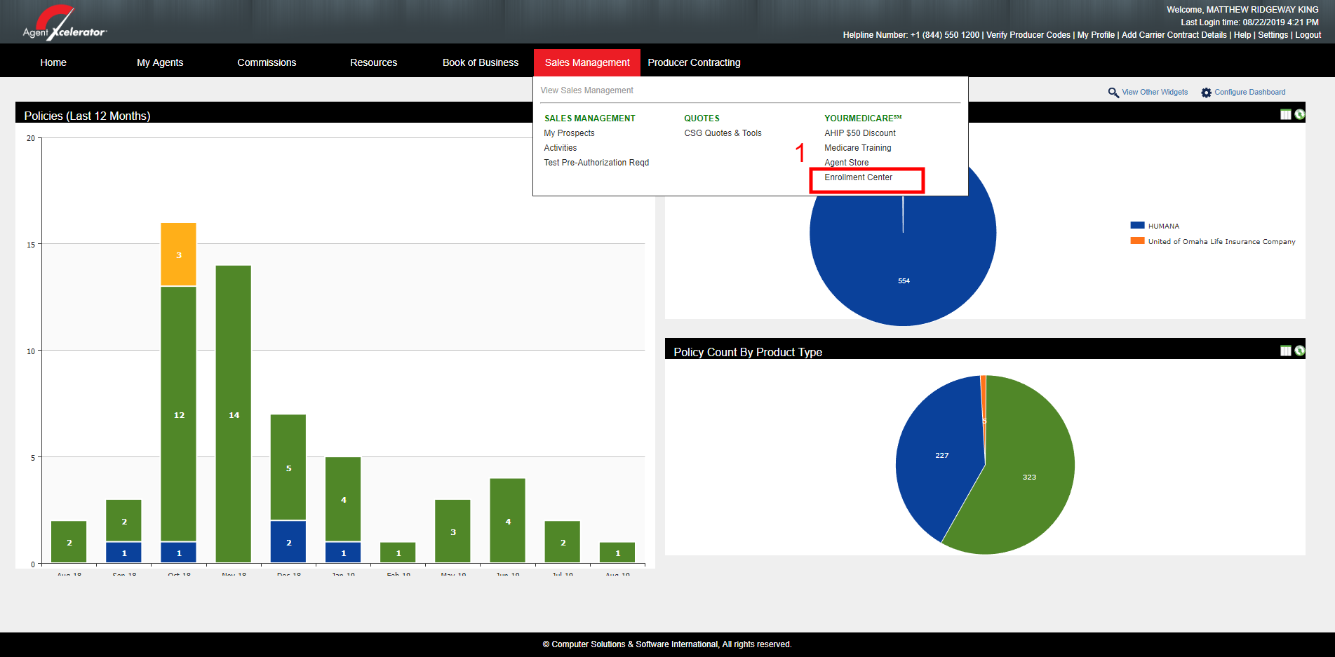 MAPD Enrollment Tool in Agent Xcelerator
