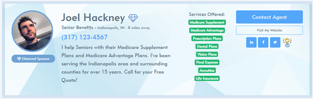 Medicare Supplement Report Diamond Profile Example